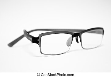 Eye glasses on a white background