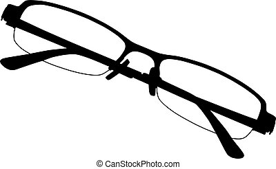 Eye glasses on white background