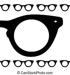 eye glasses symbol vector