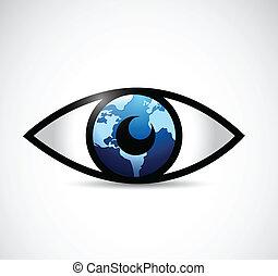 eye globe illustration design