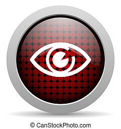 eye glossy icon