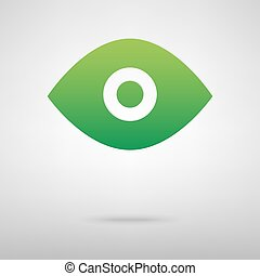 Eye. Green icon