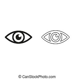 Eye - green vector icon