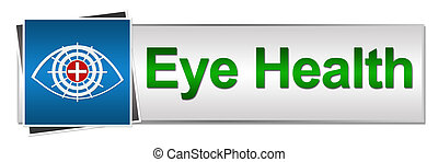 Eye Health Button Style - Banner Image with eye symbol with...
