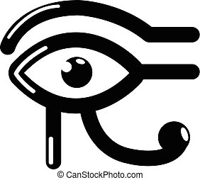 Eye horus icon, simple black style