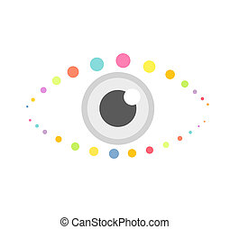 Abstract eye icon. Vector illustration