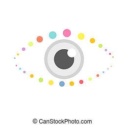 Eye icon - Abstract eye icon. Vector illustration
