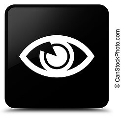 Eye icon black square button