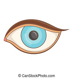 Eye icon, cartoon style