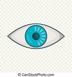 Eye icon, cartoon style