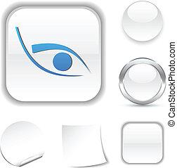 Eye  icon. - Eye  white icon. Vector illustration.