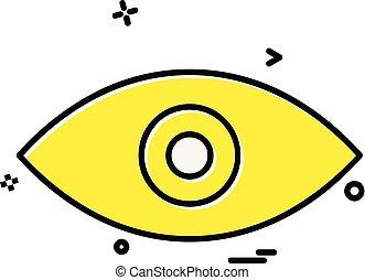 Eye icon design vector