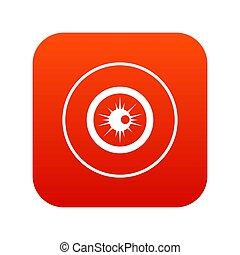 Eye icon digital red