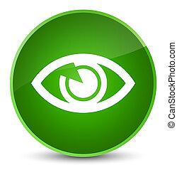 Eye icon elegant green round button