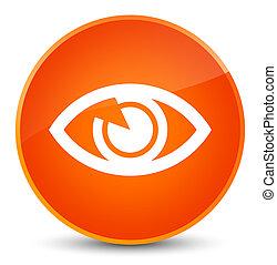 Eye icon elegant orange round button