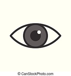 eye icon, filled outline medical and organ set