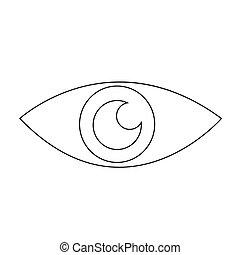 Eye icon illustration design