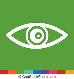 Eye Icon Illustration sign design