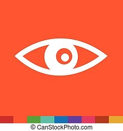 Eye Icon Illustration sign design