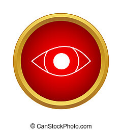 Eye icon in simple style
