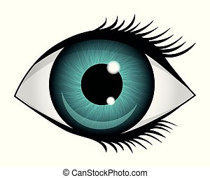 Eye icon isolated on a white background. Vector illustration.