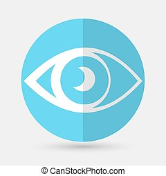 eye icon on a white background