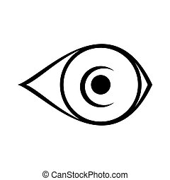 eye icon on white background
