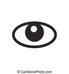 eye icon on white background , Vector.