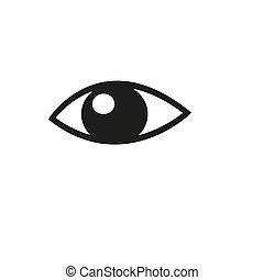 Eye icon on white background. Vector illustration