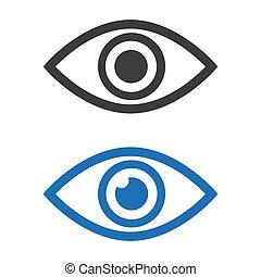 Eye icon on white background.