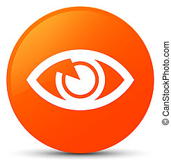 Eye icon orange round button