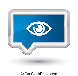 Eye icon prime blue banner button