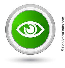 Eye icon prime green round button