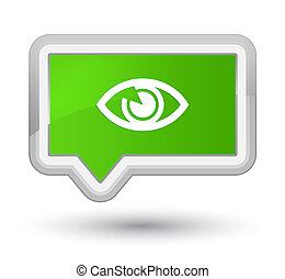 Eye icon prime soft green banner button
