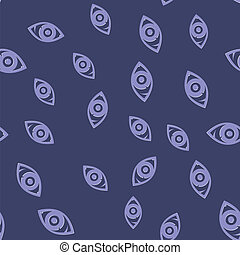 Eye Icon Seamless Pattern