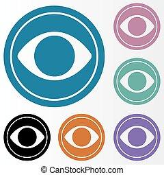 Eye icon set