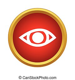 Eye icon, simple style
