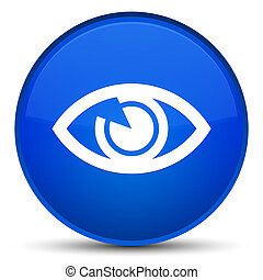 Eye icon special blue round button