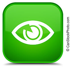 Eye icon special green square button
