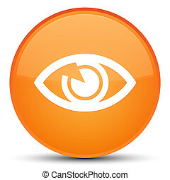 Eye icon special orange round button