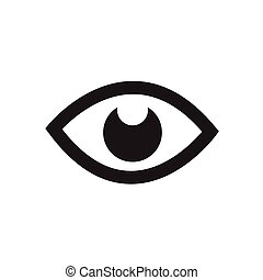 Eye icon - vector