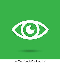 Eye icon - vector illustration