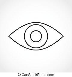 Eye icon - vector illustration.