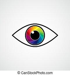 Eye icon. Vector illustration