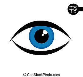 Eye icon - vector illustration.