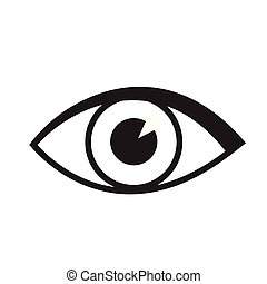 Eye icon vector isolated on white for web and mobile app