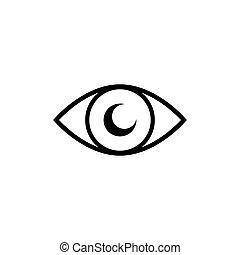 Eye icon vector, on white