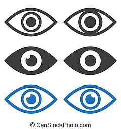 Eye icons set on white background.