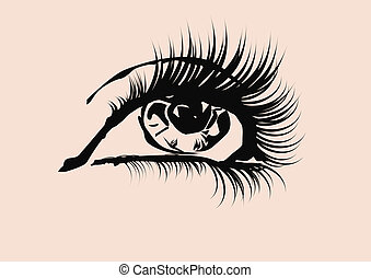 eye in close up ,high detailed, glam style