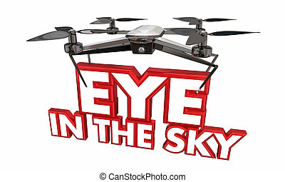 Eye in the Sky Drone Spy Surveillance 3d Illustration